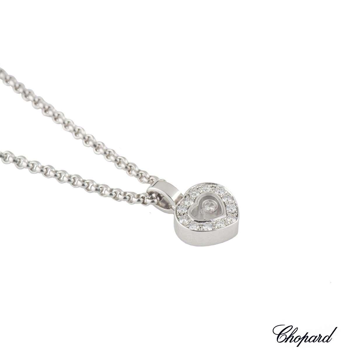 Chopard White Gold Happy Diamonds Pendant 0.33ct G/VS